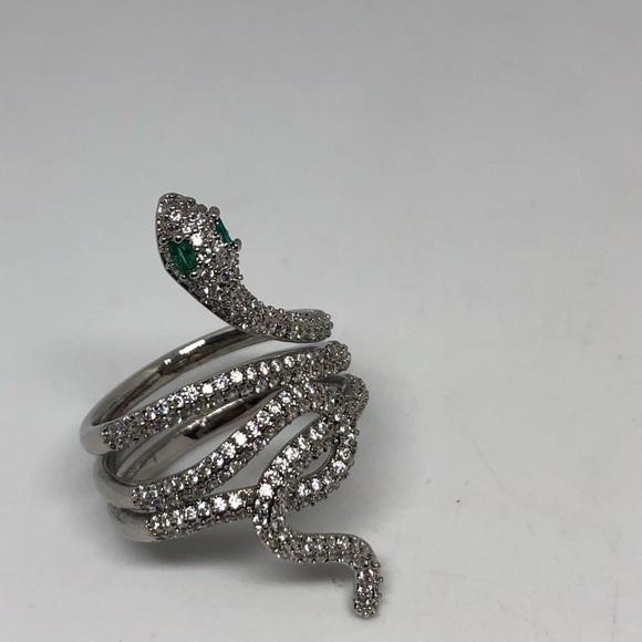 Crystal snake ring